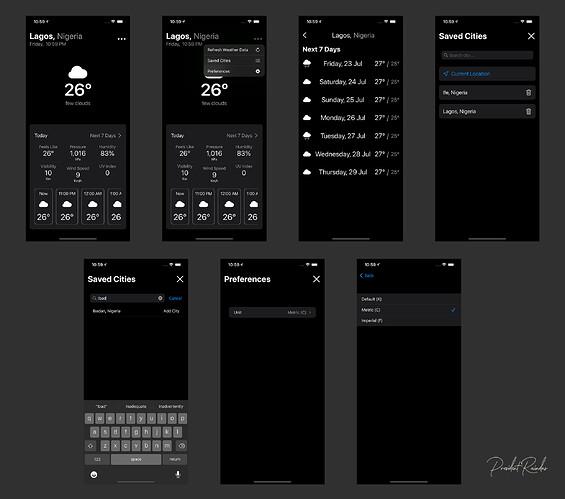 WeatherApp Dark mode